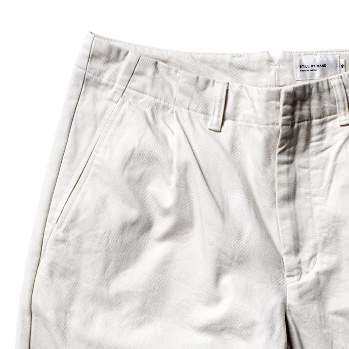 155237556 STILL BY HAND / PT04204 コットンカルゼパンツ - Off White<img class='new_mark_img2' src='https://img.shop-pro.jp/img/new/icons47.gif' style='border:none;display:inline;margin:0px;padding:0px;width:auto;' /> 02