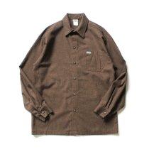 CalTop / 2000 フランネル L/Sシャツ - NS-017 無地ブラウン