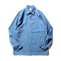 CalTop / 2000 フランネル L/Sシャツ - NS-018 無地ブルー