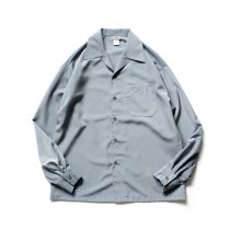 CalTop / 3003 Open Collar L/S Shirts - Grey オープンカラー長袖シャツ グレー