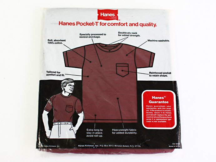 22626140 Deadstock HANES Pocket-T / Burgundy M<img class='new_mark_img2' src='//img.shop-pro.jp/img/new/icons47.gif' style='border:none;display:inline;margin:0px;padding:0px;width:auto;' /> 02
