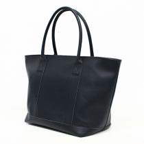 This is... Leather Tote Bag - Navy