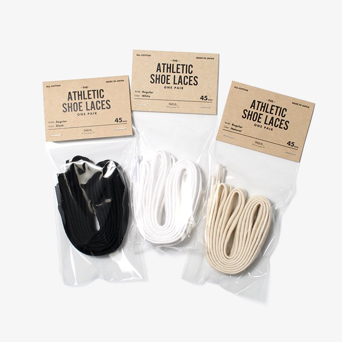 23420094 This is... / All-Cotton Athletic Shoelaces コットンシューレース - 3サイズ・2色 01