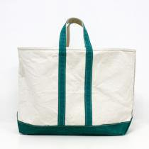 70s L.L.Bean Boat and Tote Bag - Green