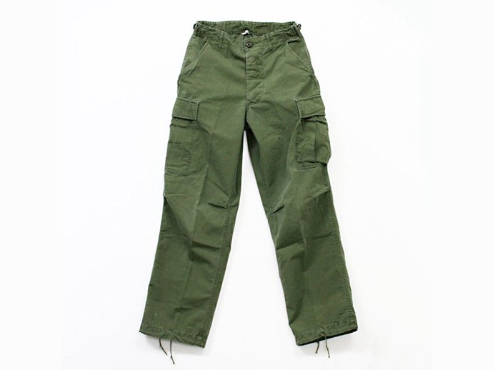 EHS Vintage Used '60s Poplin Jungle Fatigue Pants 02