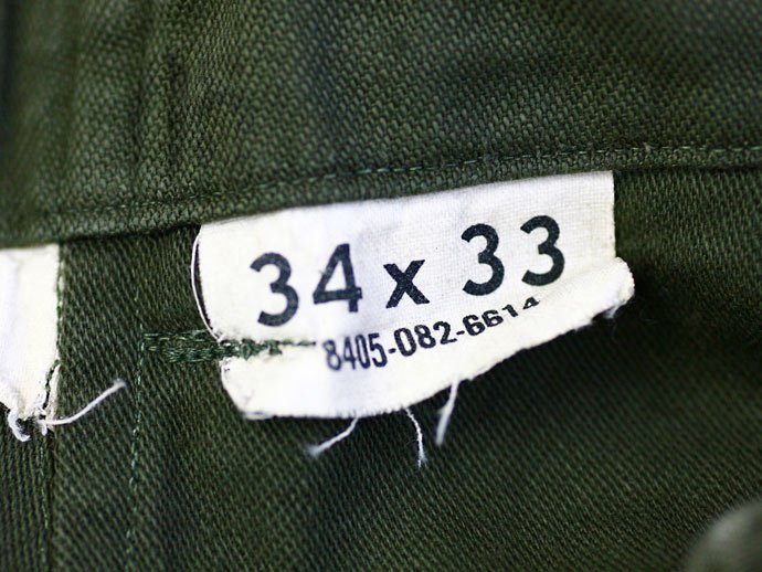 EHS Vintage Used U.S. Army Utility Trousers - W34 L33<img class='new_mark_img2' src='//img.shop-pro.jp/img/new/icons47.gif' style='border:none;display:inline;margin:0px;padding:0px;width:auto;' /> 02