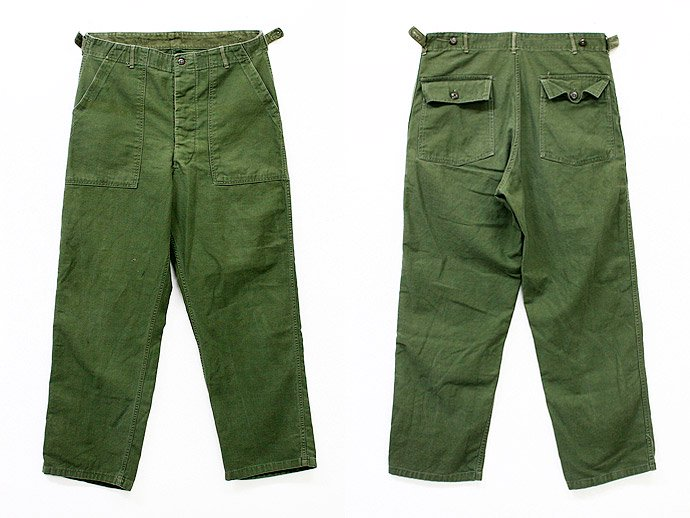 EHS Vintage Used '60s U.S. Army Utility Trousers w/Adjust Tab<img class='new_mark_img2' src='//img.shop-pro.jp/img/new/icons47.gif' style='border:none;display:inline;margin:0px;padding:0px;width:auto;' /> 02