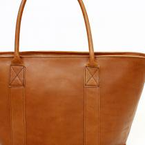 This is... Leather Tote Bag - Brown