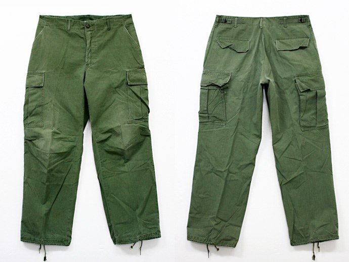 EHS Vintage Used '60s Jungle Fatigue Pants w/ Scovill Zipper Ji02R 02