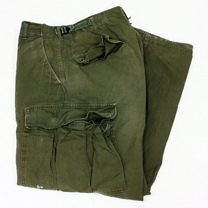EHS Vintage Used '60s Rip Stop Poplin Jungle Fatigue Pants  J05R 01