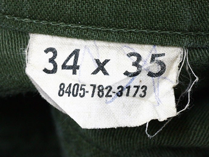 25379877 Used U.S. Army Utility Trousers - W34 L35<img class='new_mark_img2' src='//img.shop-pro.jp/img/new/icons47.gif' style='border:none;display:inline;margin:0px;padding:0px;width:auto;' /> 02