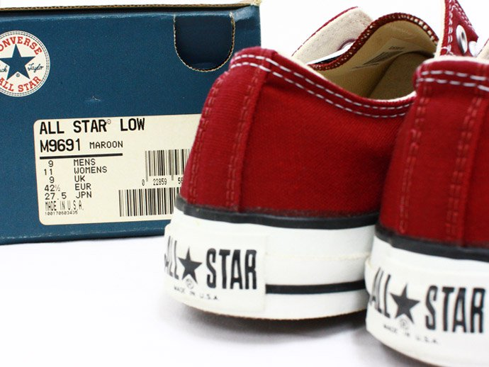 EHS Vintage Converse All Star (Made in U.S.A.) Lo - Maroon<img class='new_mark_img2' src='//img.shop-pro.jp/img/new/icons47.gif' style='border:none;display:inline;margin:0px;padding:0px;width:auto;' /> 02