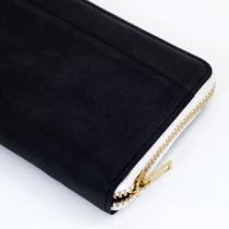 This is... Round Fastener Wallet - Black Bridle Leather