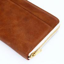 This is... / Round Fastener Wallet - Brown Bridle Leather