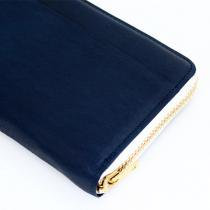 Round Fastener Wallet - Navy Leather<img class='new_mark_img2' src='//img.shop-pro.jp/img/new/icons47.gif' style='border:none;display:inline;margin:0px;padding:0px;width:auto;' />