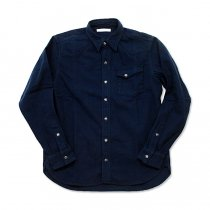 Hexico / Flannel Western Shirts フランネル ウエスタンシャツ / Navy<img class='new_mark_img2' src='//img.shop-pro.jp/img/new/icons47.gif' style='border:none;display:inline;margin:0px;padding:0px;width:auto;' />