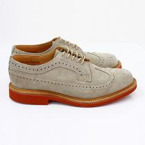 Mark McNairy Suede Longwing Brogue - Stone
