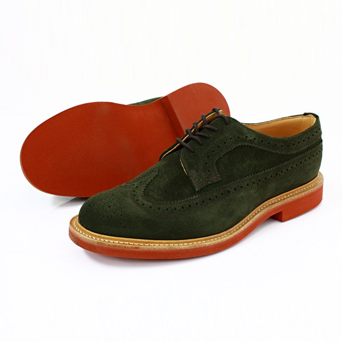 Mark McNairy Suede Longwing Brogue - Green<img class='new_mark_img2' src='//img.shop-pro.jp/img/new/icons47.gif' style='border:none;display:inline;margin:0px;padding:0px;width:auto;' /> 01