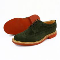 Mark McNairy Suede Longwing Brogue - Green