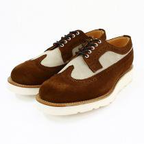 Mark McNairy Two Tone Suede Longwing Brogue - Snuff/Stone