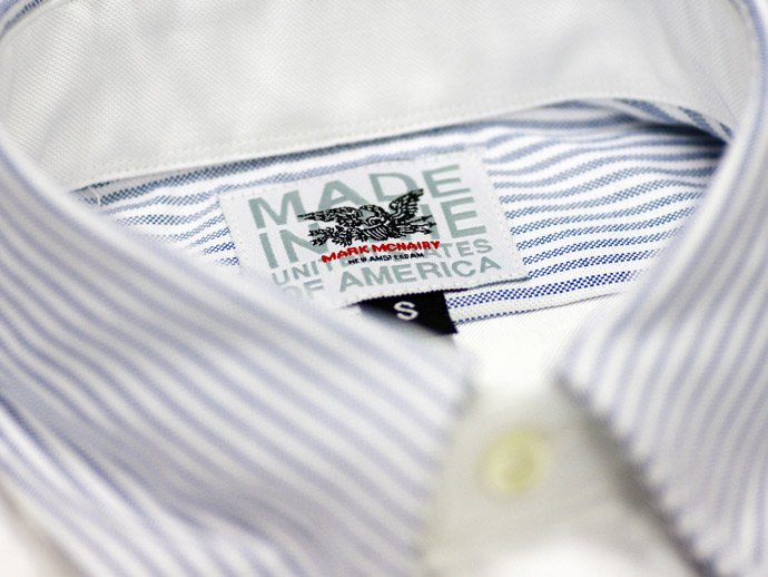 Mark McNairy Oxford Fun Shirt - Blue Stripe/White<img class='new_mark_img2' src='//img.shop-pro.jp/img/new/icons47.gif' style='border:none;display:inline;margin:0px;padding:0px;width:auto;' /> 02