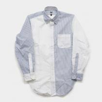 Mark McNairy Oxford Fun Shirt - Blue Stripe/White