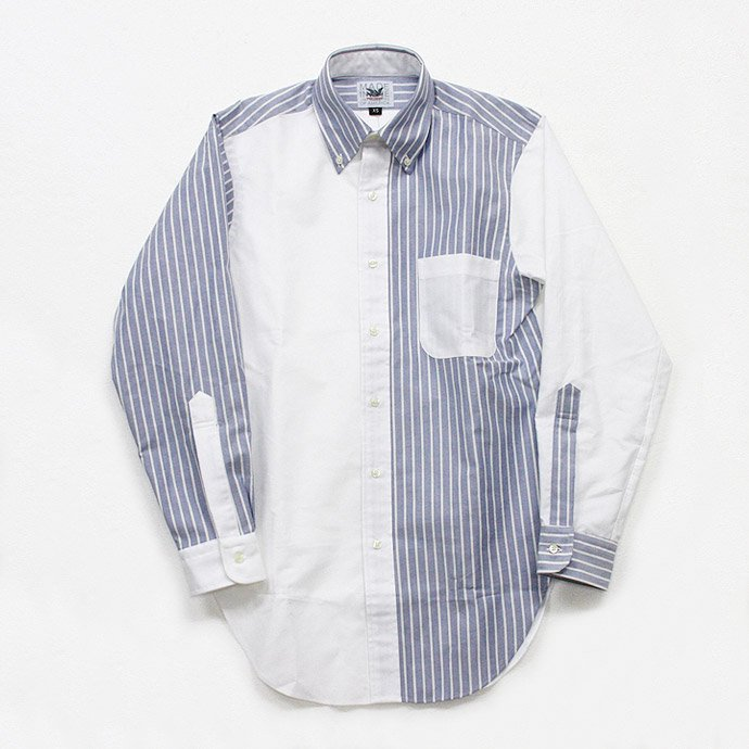 Mark McNairy Oxford Fun Shirt - New Blue Stripe/White<img class='new_mark_img2' src='//img.shop-pro.jp/img/new/icons47.gif' style='border:none;display:inline;margin:0px;padding:0px;width:auto;' /> 01