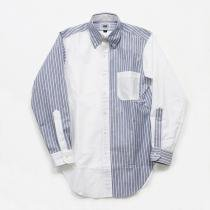 Mark McNairy Oxford Fun Shirt - New Blue Stripe/White