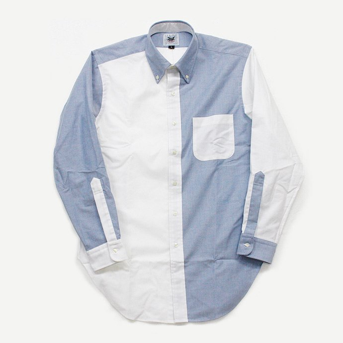 Mark McNairy Oxford Fun Shirt - Blue/White<img class='new_mark_img2' src='//img.shop-pro.jp/img/new/icons47.gif' style='border:none;display:inline;margin:0px;padding:0px;width:auto;' /> 01