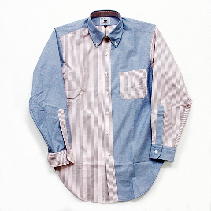 Mark McNairy Oxford Fun Shirt - Red Stripe/Blue<img class='new_mark_img2' src='//img.shop-pro.jp/img/new/icons47.gif' style='border:none;display:inline;margin:0px;padding:0px;width:auto;' /> 01