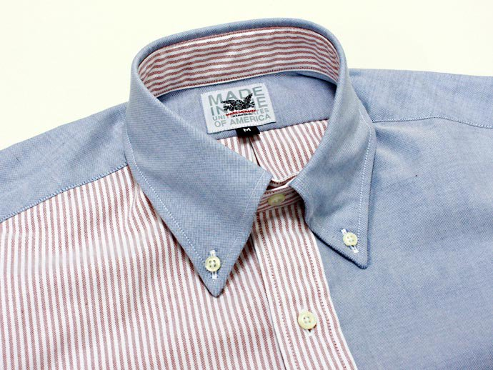 Mark McNairy Oxford Fun Shirt - Red Stripe/Blue<img class='new_mark_img2' src='//img.shop-pro.jp/img/new/icons47.gif' style='border:none;display:inline;margin:0px;padding:0px;width:auto;' /> 02