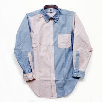 Mark McNairy Oxford Fun Shirt - Red Stripe/Blue