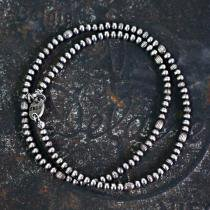 sinc / Silver Beads Necklace - Thin