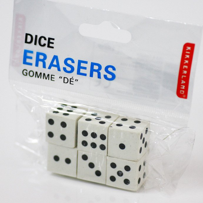 Other Brands Kikkerland / Dice Erasers<img class='new_mark_img2' src='//img.shop-pro.jp/img/new/icons47.gif' style='border:none;display:inline;margin:0px;padding:0px;width:auto;' /> 01