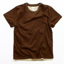 Other Brands go-getter / Layered Pocket T-shirts - Brown