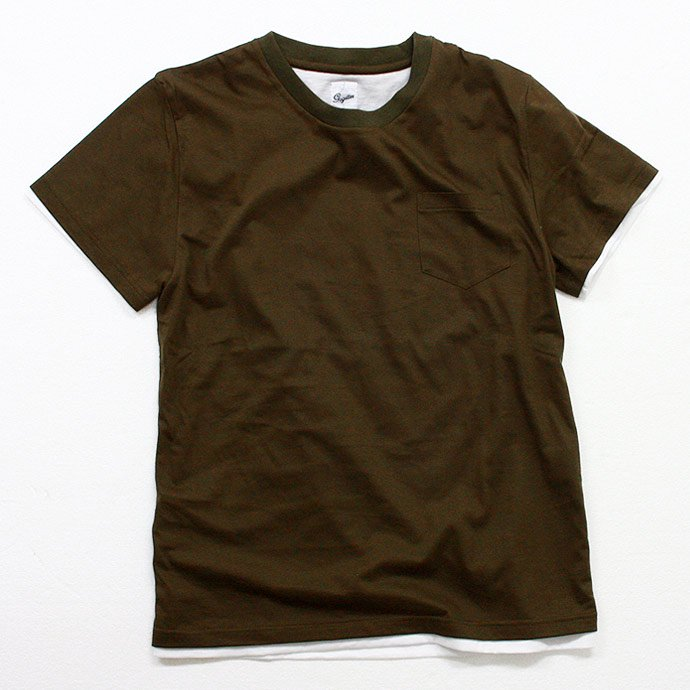 Other Brands go-getter / Layered Pocket T-shirts - Olive<img class='new_mark_img2' src='//img.shop-pro.jp/img/new/icons47.gif' style='border:none;display:inline;margin:0px;padding:0px;width:auto;' /> 01