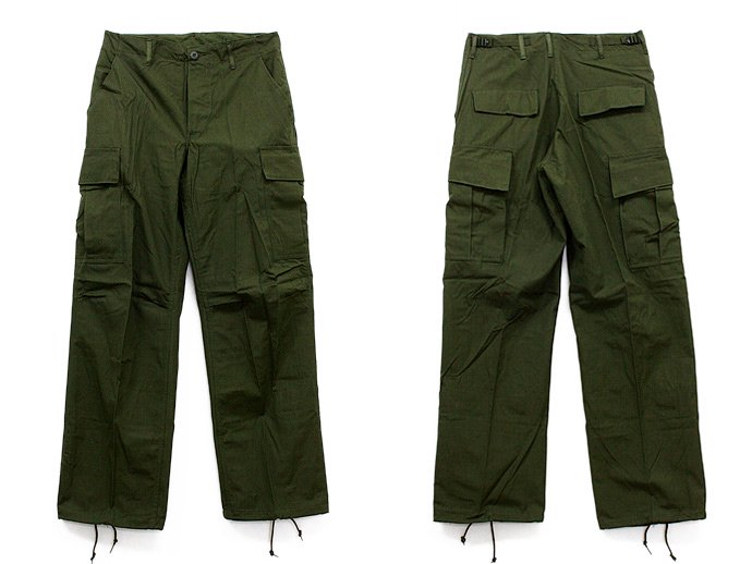 EHS Vintage Deadstock '60s Rip Stop Poplin Jungle Fatigue Pants w/ Scovill Zipper 2424<img class='new_mark_img2' src='//img.shop-pro.jp/img/new/icons47.gif' style='border:none;display:inline;margin:0px;padding:0px;width:auto;' /> 02