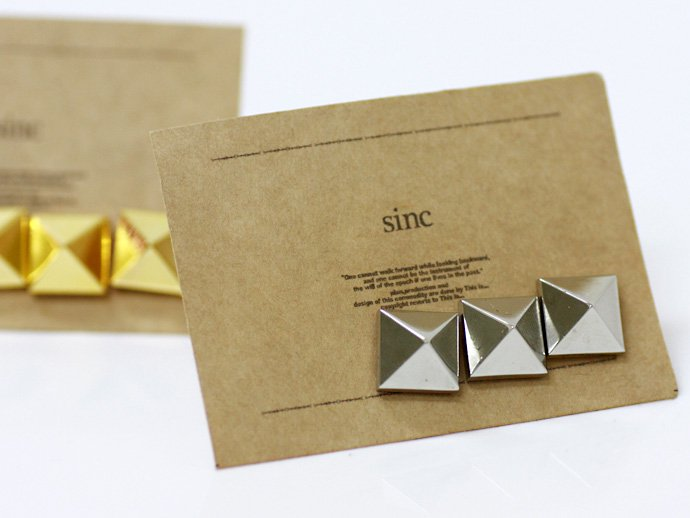 sinc sinc / Pyramid Studs Pins - Silver<img class='new_mark_img2' src='//img.shop-pro.jp/img/new/icons47.gif' style='border:none;display:inline;margin:0px;padding:0px;width:auto;' /> 02