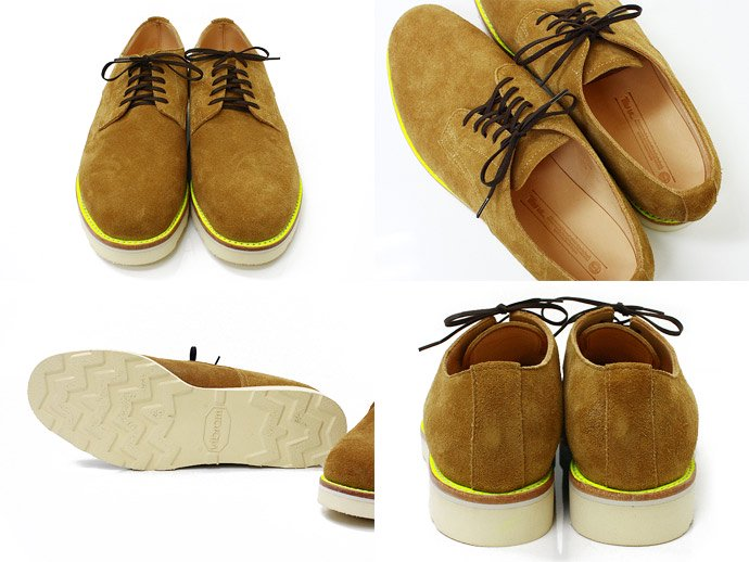 34789801 This is... / Suede Derby Shoe スウェード プレーントゥ - Camel 02