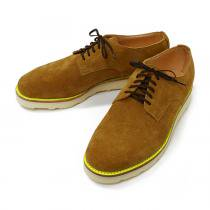 This is... Suede Derby Shoe スウェード プレーントゥ - Camel
