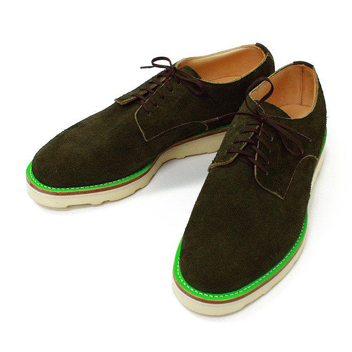 This is... Suede Derby Shoe スウェード プレーントゥ - Olive 01