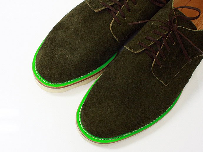 This is... Suede Derby Shoe スウェード プレーントゥ - Olive 02