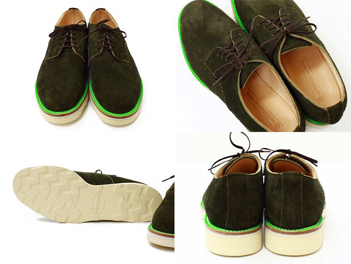 34791194 This is... / Suede Derby Shoe スウェード プレーントゥ - Olive 02