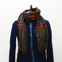 Other Brands erfurt / Tartan Scarf - Black