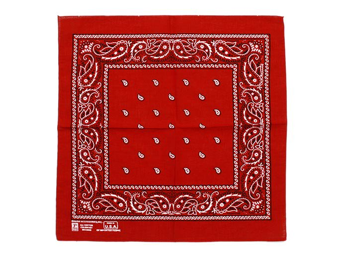 EHS Vintage '90s Deadstock Bandana Made in USA - Paris / Red<img class='new_mark_img2' src='//img.shop-pro.jp/img/new/icons47.gif' style='border:none;display:inline;margin:0px;padding:0px;width:auto;' /> 02