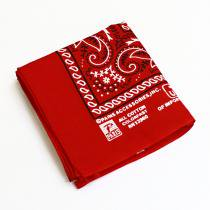 EHS Vintage '90s Deadstock Bandana Made in USA - Paris / Red<img class='new_mark_img2' src='//img.shop-pro.jp/img/new/icons47.gif' style='border:none;display:inline;margin:0px;padding:0px;width:auto;' />