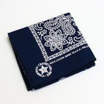 '90s Deadstock Bandana Made in USA - Navy<img class='new_mark_img2' src='//img.shop-pro.jp/img/new/icons47.gif' style='border:none;display:inline;margin:0px;padding:0px;width:auto;' />