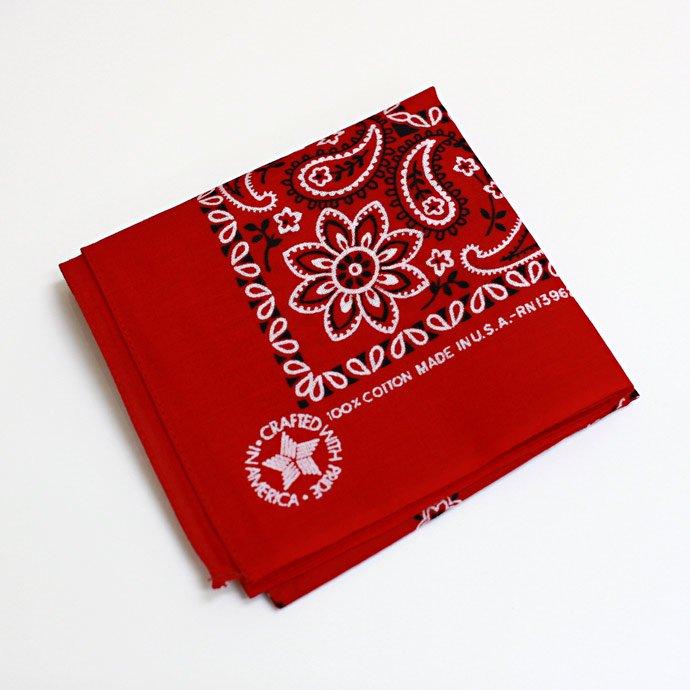 EHS Vintage '90s Deadstock Bandana Made in USA - Red<img class='new_mark_img2' src='//img.shop-pro.jp/img/new/icons47.gif' style='border:none;display:inline;margin:0px;padding:0px;width:auto;' /> 01