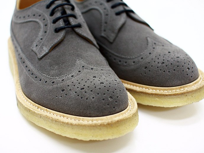 Tricker's Tricker's for EHS / Grey Suede Golosh Brogues M7306<img class='new_mark_img2' src='http://male.eighthundredships.com/img/new/icons47.gif' style='border:none;display:inline;margin:0px;padding:0px;width:auto;' /> 02
