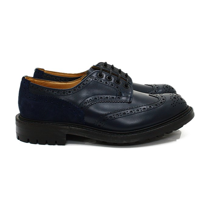 Tricker's Tricker's for EHS / Two Tone Derby Brogues - Navy M7292<img class='new_mark_img2' src='//img.shop-pro.jp/img/new/icons47.gif' style='border:none;display:inline;margin:0px;padding:0px;width:auto;' /> 01